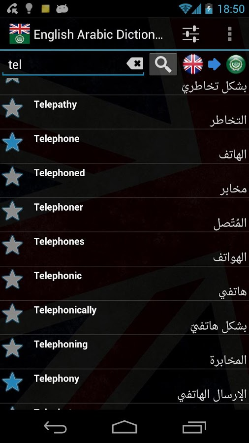 English Arabic Dictionary - screenshot
