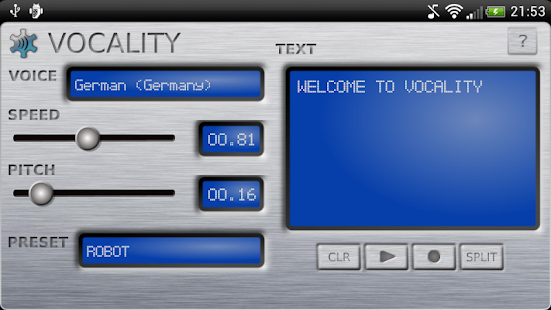 Vocality Text To Speech- screenshot thumbnail