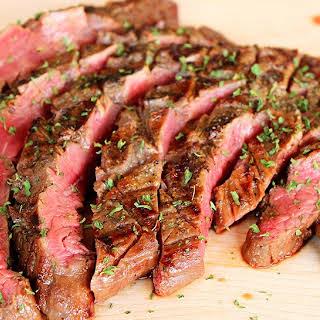 California Style Garlic Pepper Steak.