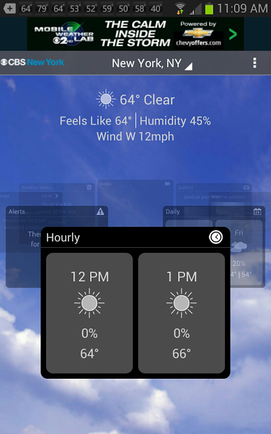 CBS New York Weather- screenshot
