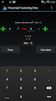 Screenshot of Trinomial Factoring Free