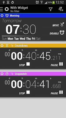 Timers and Widgets - screenshot