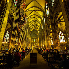 Strasbourg Cathedral by Piotr Owczarzak - Buildings & Architecture Places of Worship ( church, cathedral, france, travel, strasbourg,  )