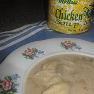 Simple Knefla Soup.
