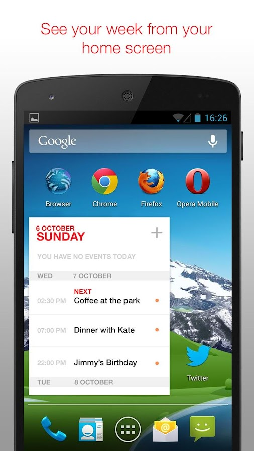 Cal - Google Calendar + Widget- screenshot