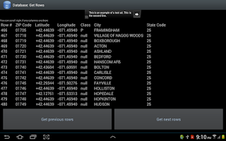 Screenshot of Panacea Database