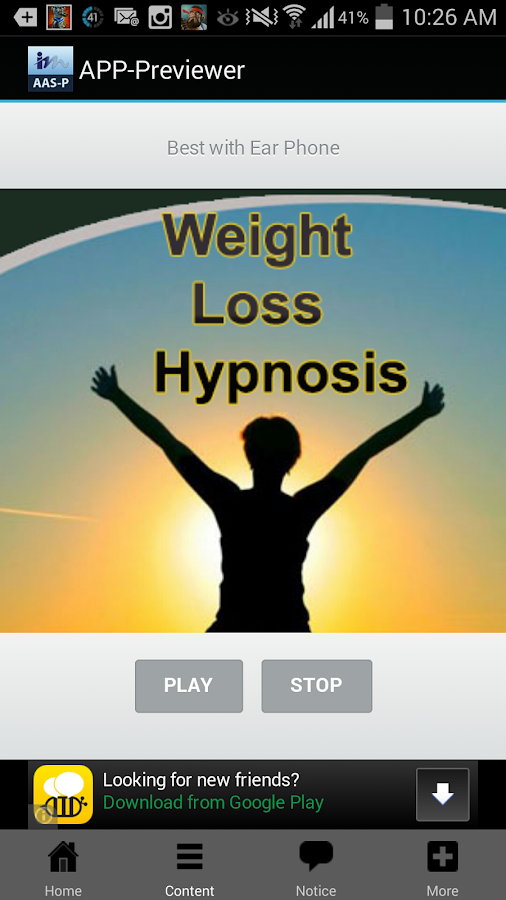 Weight Loss Hypnosis- screenshot