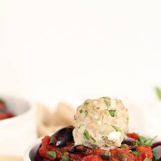 Greek Paleo Turkey Meatballs and Tomato Beet Spaghetti.