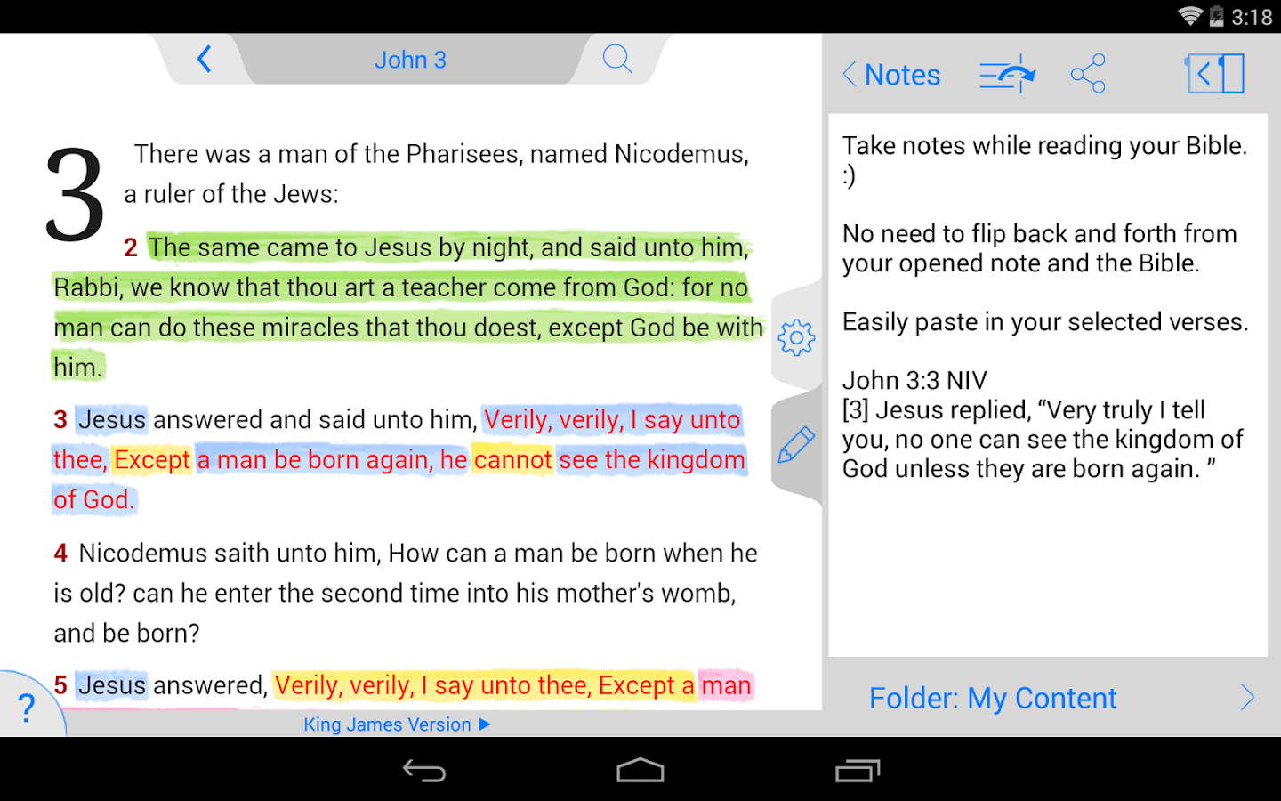 NIV Bible- screenshot