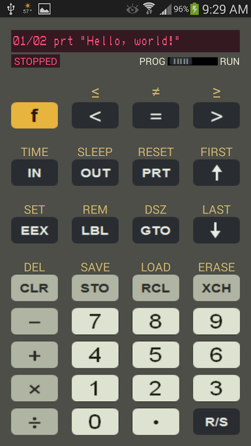 how to know if calculator is programmable
