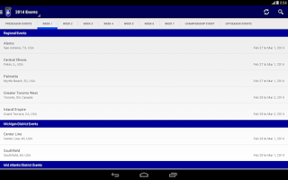 Screenshot of The Blue Alliance