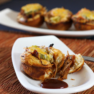 Pulled Pork Barbecue Biscuit Cups