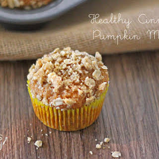 Healthy Pumpkin Muffins with Streusel Topping.