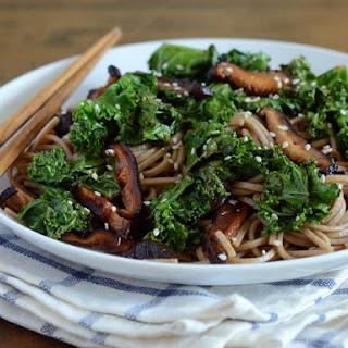 Black Garlic Soba Noodles