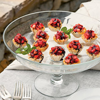 Strawberry-Fromage Blanc Tartlets.