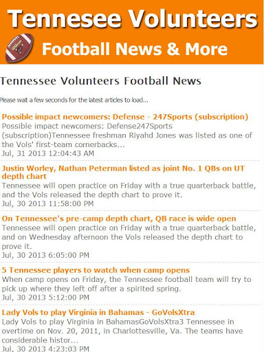 Tennessee Vols Football News