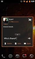 Screenshot of Go SMS Theme Orange Minimal