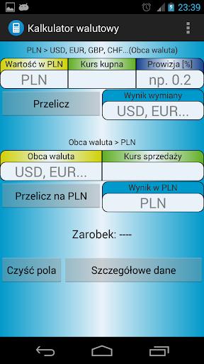 WaluTech - Kalkulator walutowy