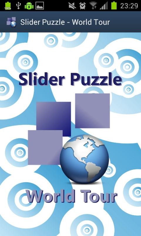 Slider Puzzle - World Tour- screenshot