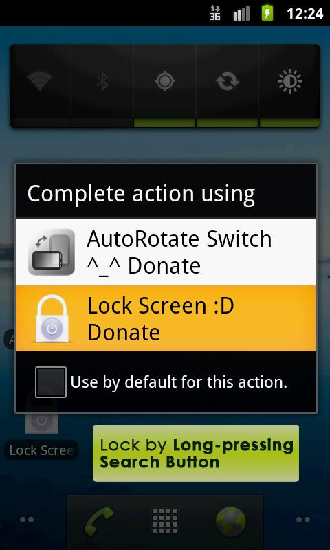Lock Screen App - Donation- screenshot