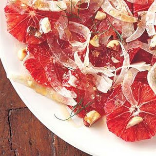 Blood Orange Salad with Shaved Fennel and Hazelnuts Recipe