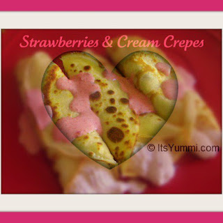 Strawberries and Cream Crepes