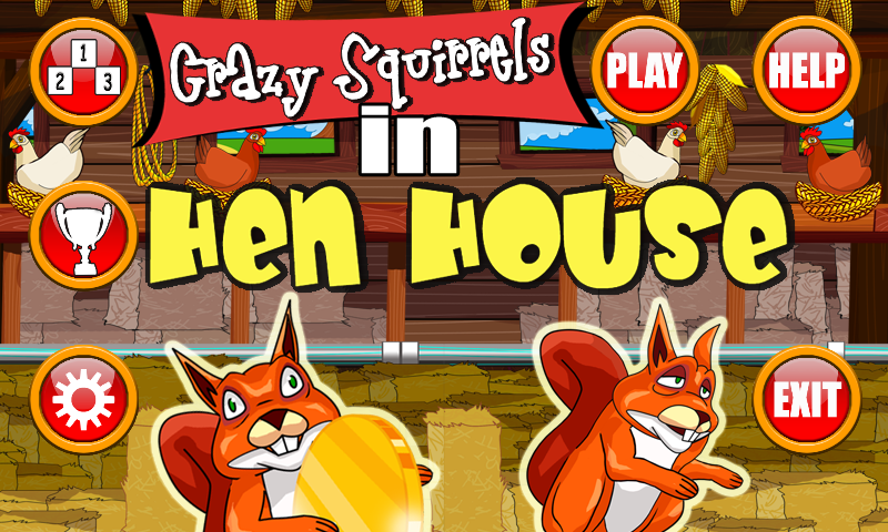 Crazy Squirrels - Hen House- screenshot