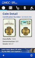 Screenshot of NGC Coin Details
