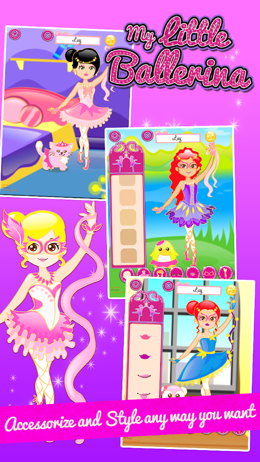 Ballerina Fashion Dressup- screenshot