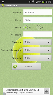 Tennis - Classifica FIT 2017- screenshot thumbnail