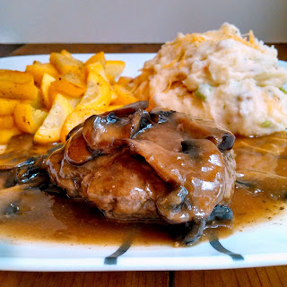 Salisbury Steak w/ Loaded Mashed Potatoes and Mushroom Gravy