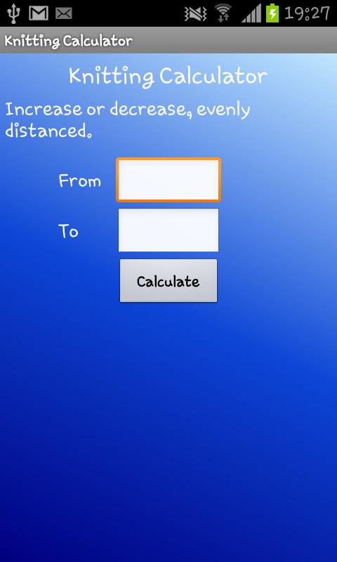 Knitting Stitches Calculator : Knitting Calculator - Android Apps on Google Play
