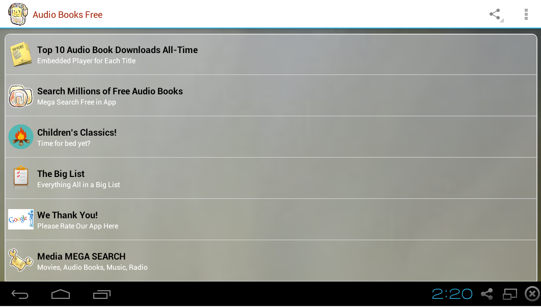 how to make an audio book app