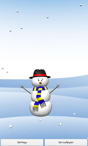 Snowman 3D Free Live Wallpaper