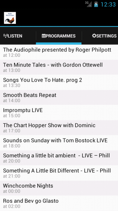 Radio Winchcombe- screenshot