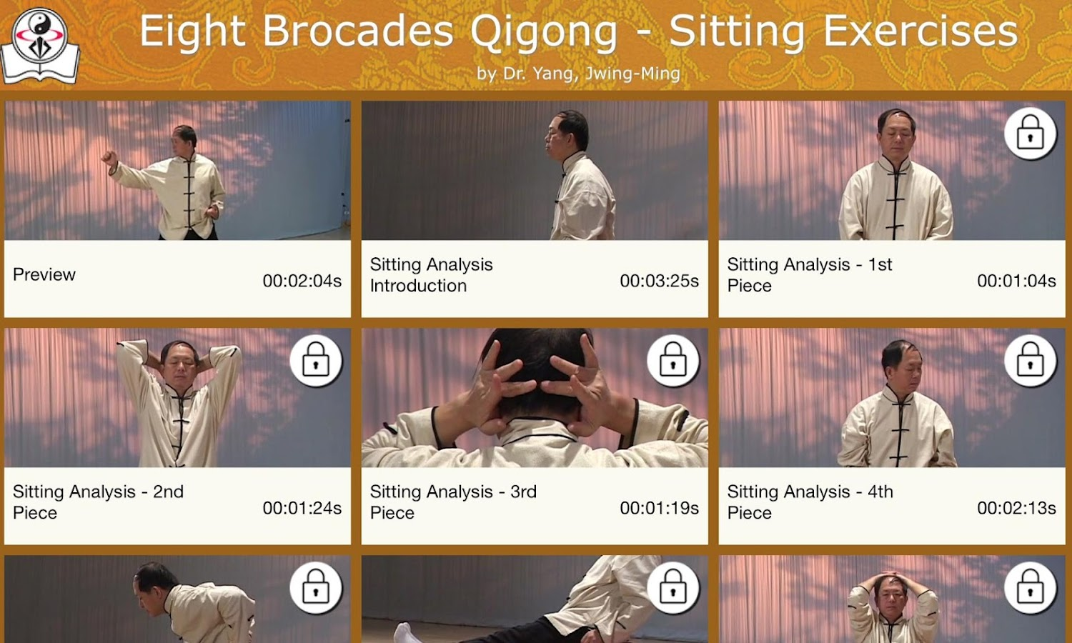 Eight Brocades Qigong Sitting- screenshot