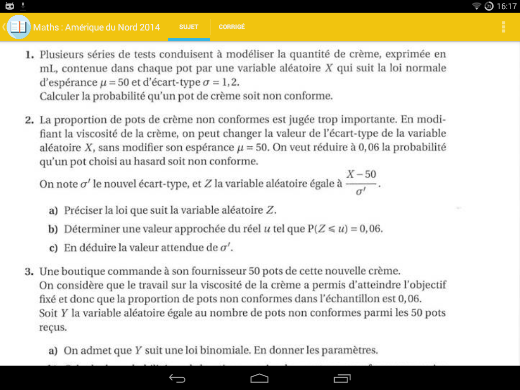 annales et cours bac s 2017 screenshot - Resume Cours Science Bac Math