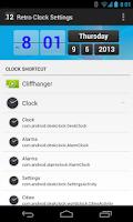 Screenshot of Retro Clock Settings