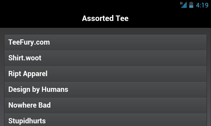 Assorted Tee - screenshot