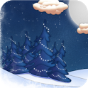 White Christmas Live Wall Lite icon