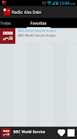 Screenshot of Abu Dhabi Radio