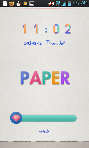 Paper go locker theme