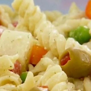 Creamy Latin pasta salad.