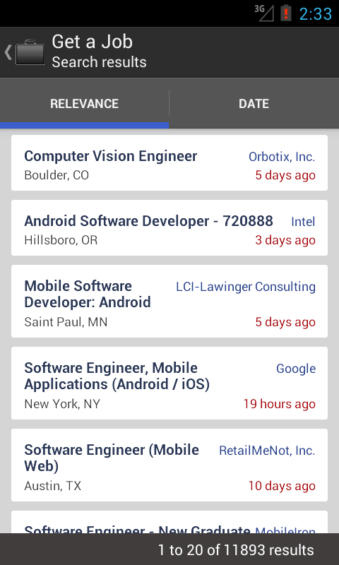 Get a Job - screenshot