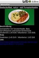 Screenshot of MensaPlaner Dresden