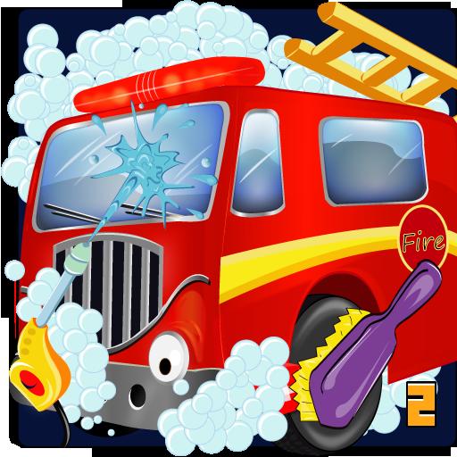 Firetruck wash LOGO-APP點子