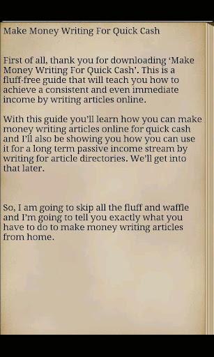 Make Money Online Now Writing