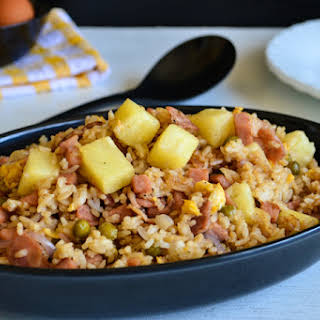Spam Fried Rice with Bacon and Pineapple.