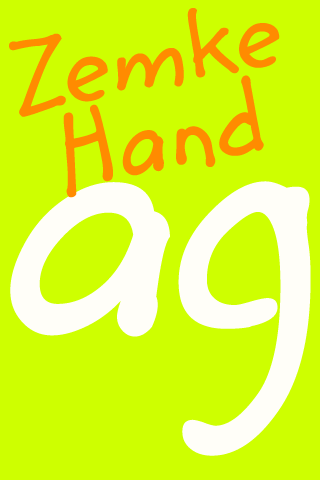 Zemke Hand FlipFont- screenshot