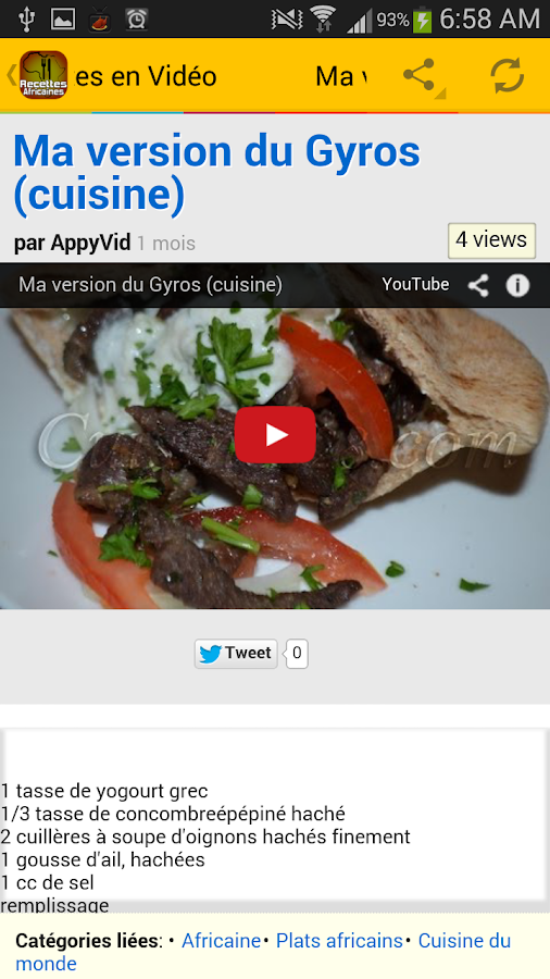 Recettes de cuisine africaine android apps on google play for Google cuisine